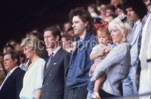 At Live Aid. Bob Geldof With the royal Family.
